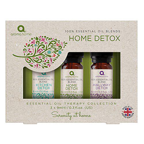 Aroma Home - Set di 3 oli essenziali per la casa detox da 9 ml