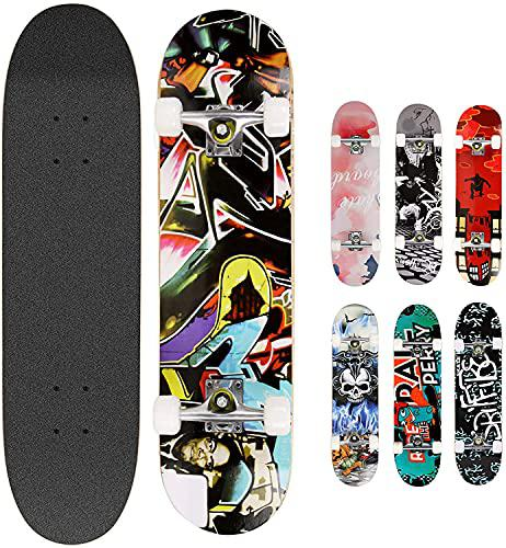Hikole Skateboard Completo in Legno