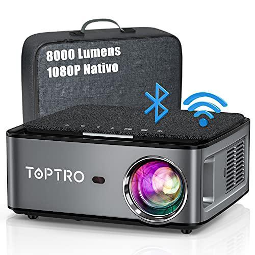 TOPTRO 5G Proiettore WiFi Bluetooth 8000 Lumens