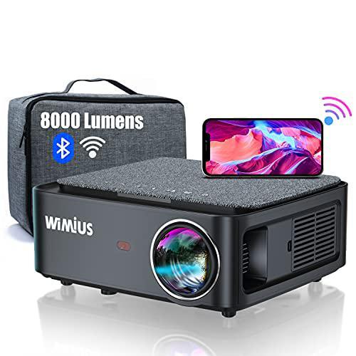 Videoproiettore WiFi Bluetooth,8000 Lumen Proiettore Full HD 1080P