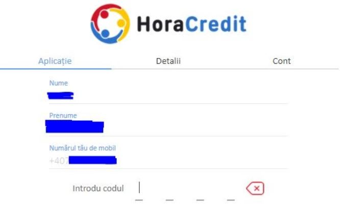 hora credit - date personale