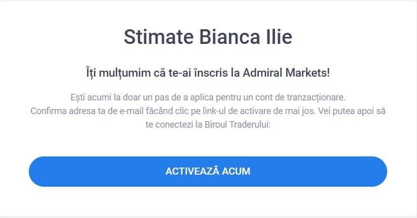 Admiral Markets - activeaza contul acum