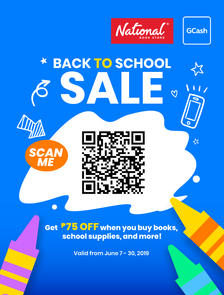 Get P75 off when you use GCash | Deal by National Book Store