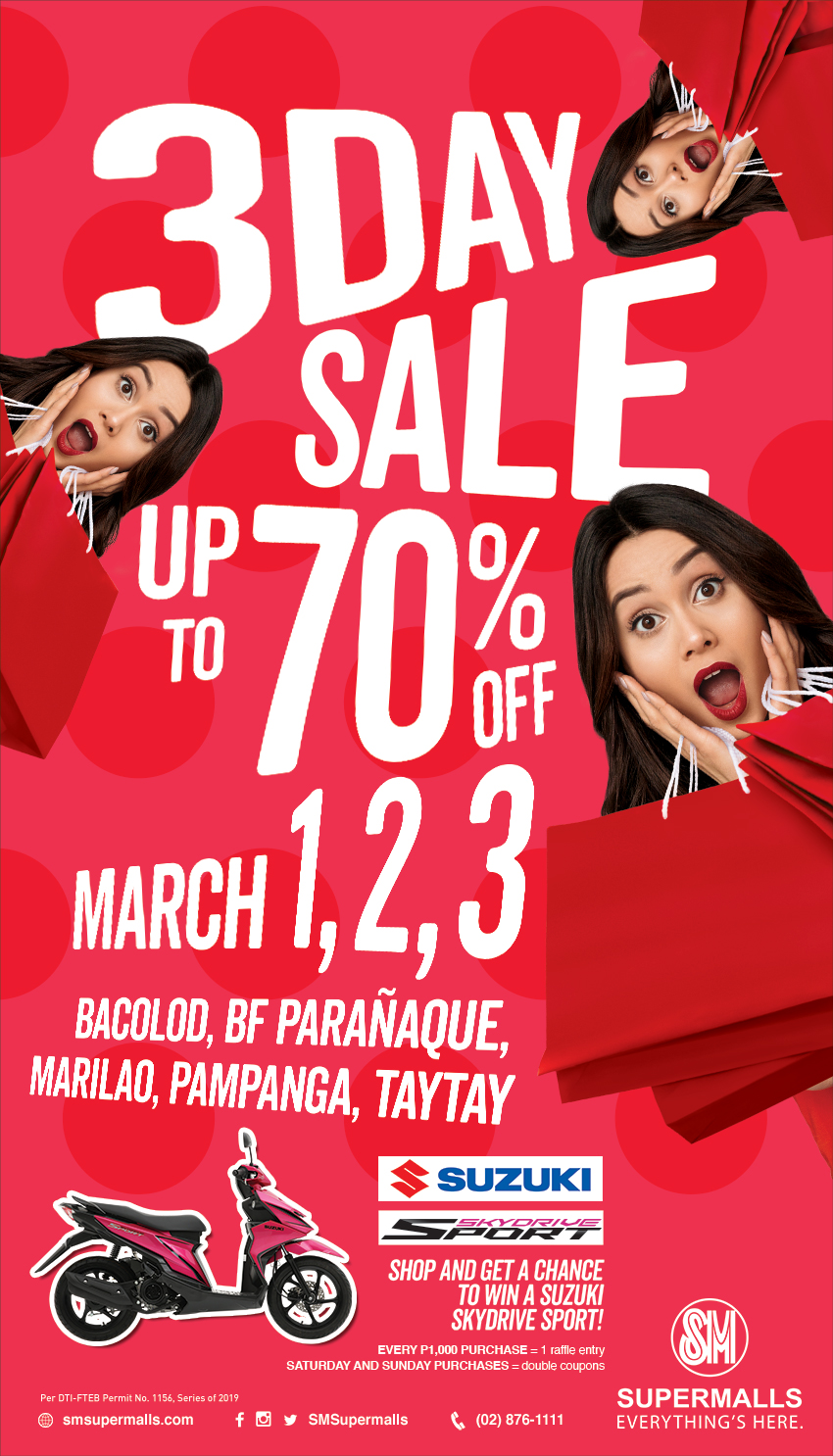 SM 3 Day Sale | Deal by SM Supermalls | Mrkdwn ph