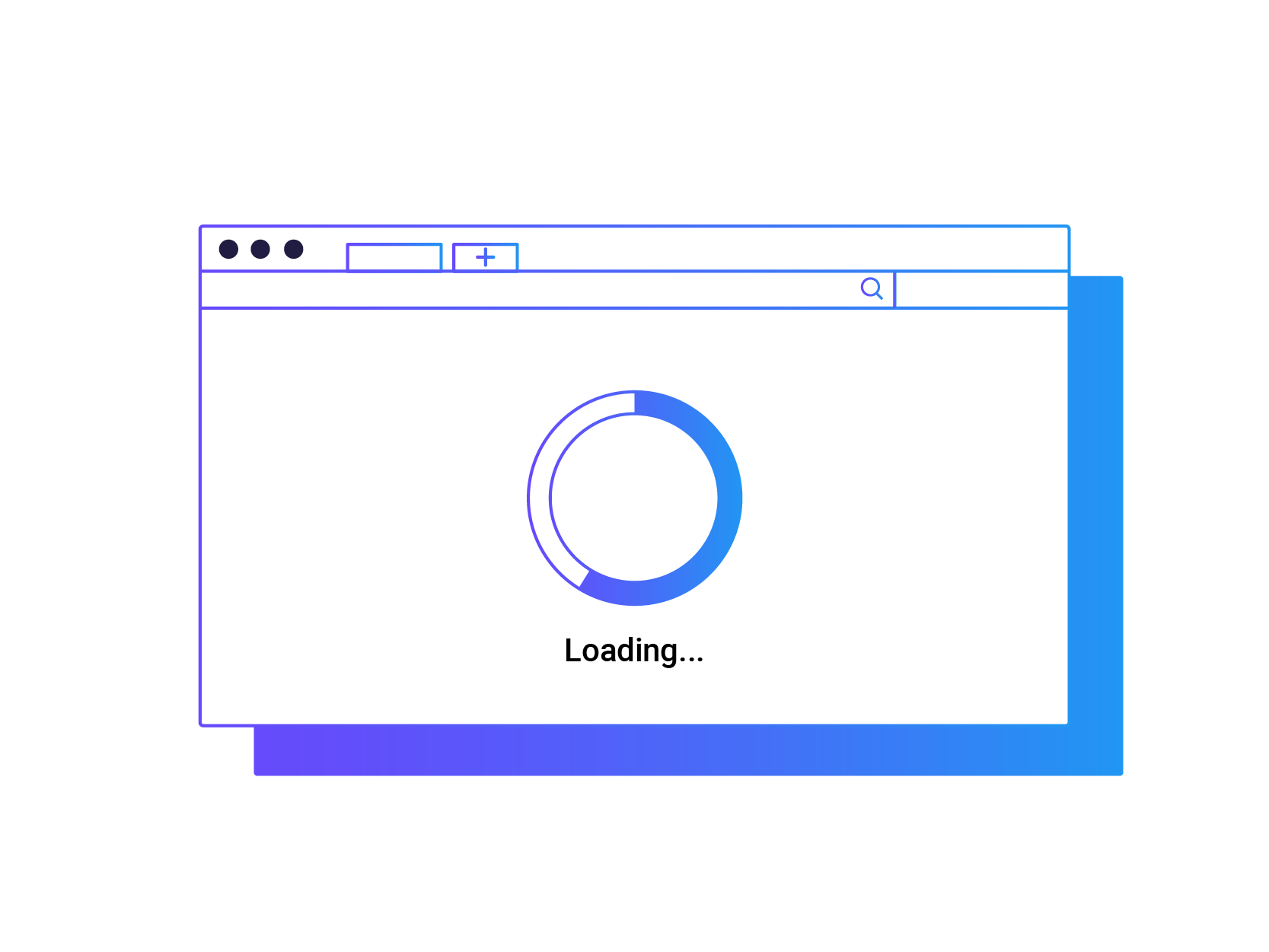 Graphic of Loading Page