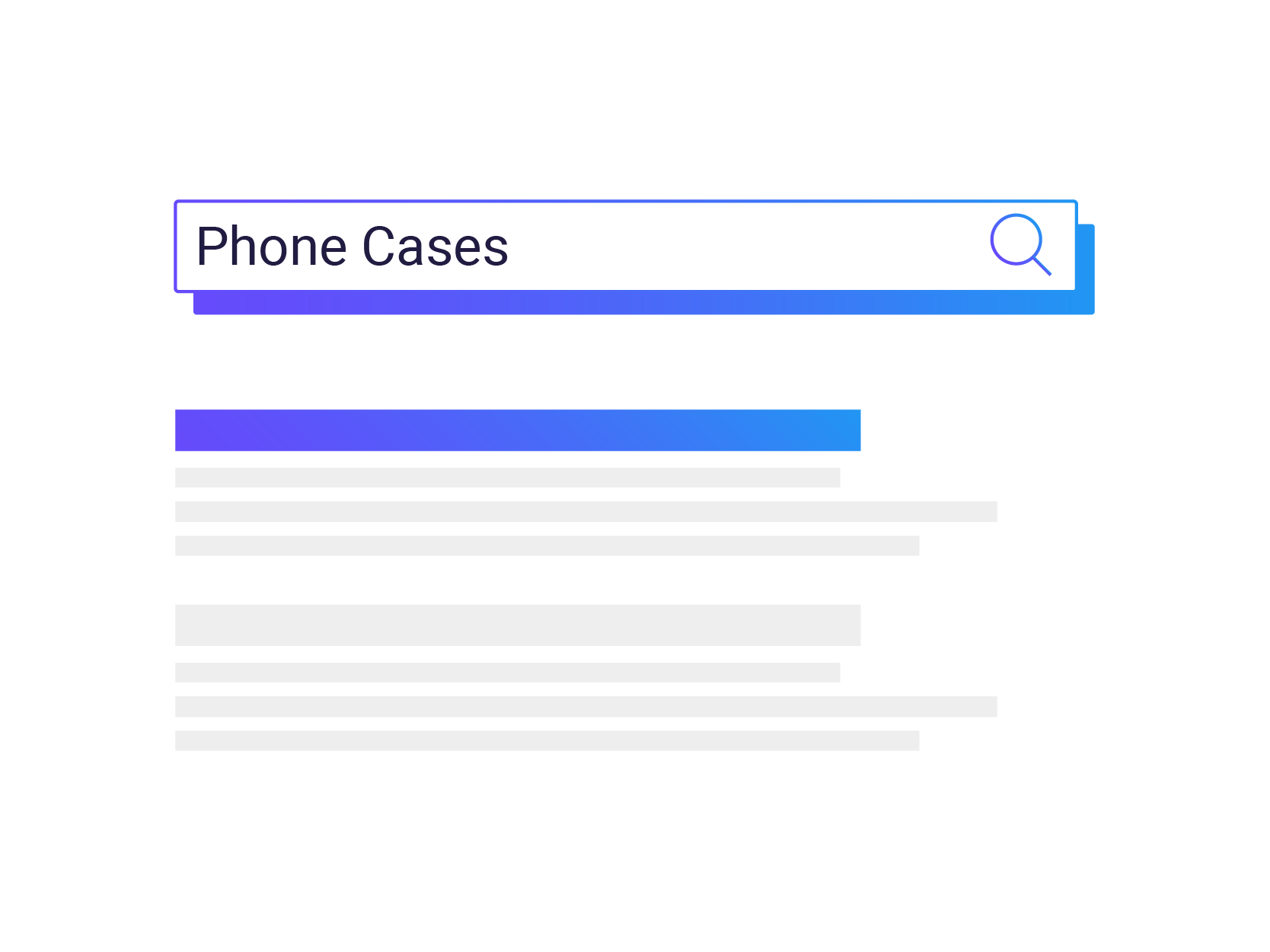 Graphic of Search Bar