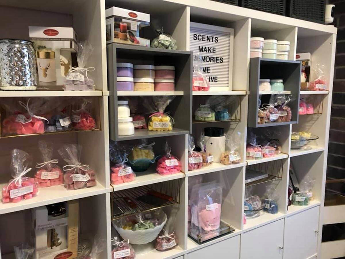 Image of Vintage Chic Scents store shelves