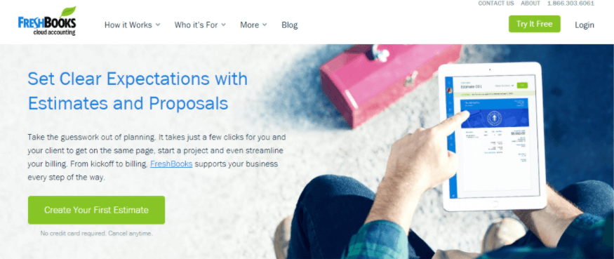 Image of Freshbooks promotional banner
