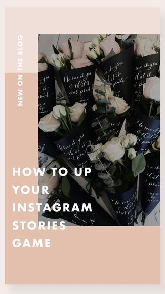 Example of a custom Instagram Story background.