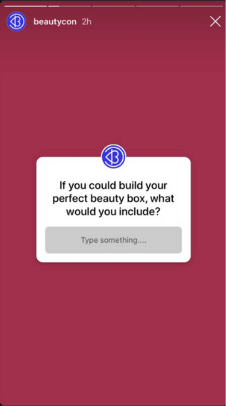 Example of a question sticker on Instagram.