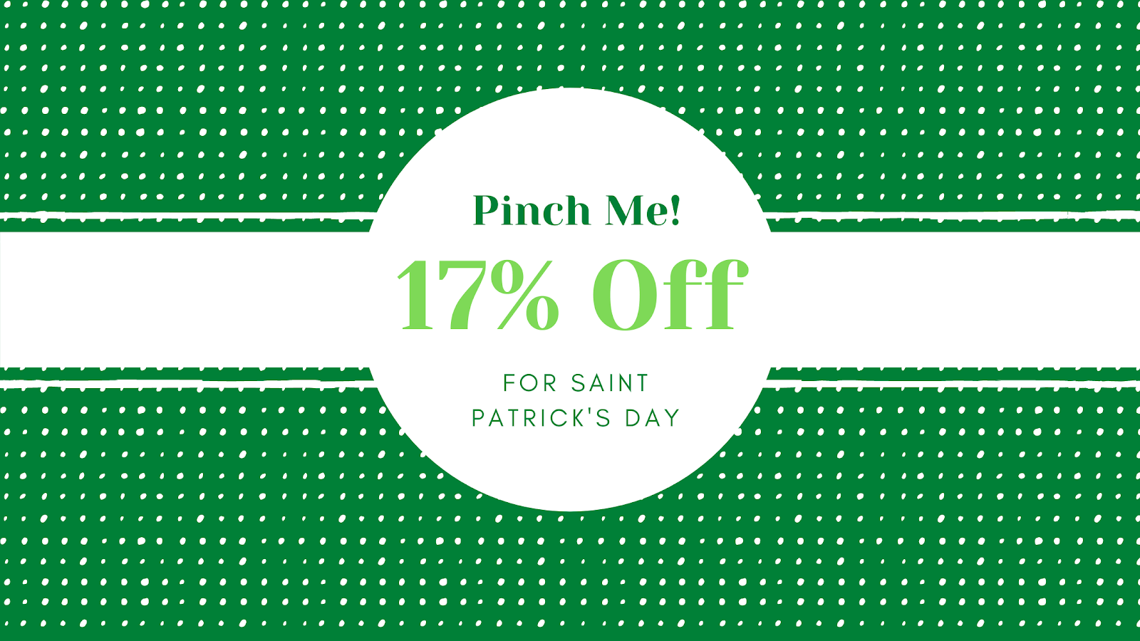 Example of a St. Patrick's Day sale.