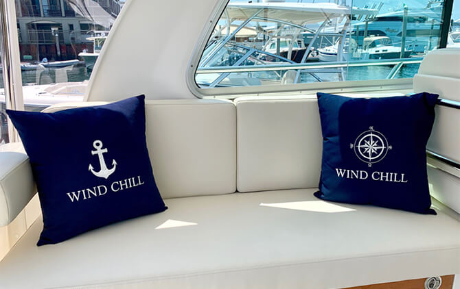 Image of Nantucket Bound pillows.