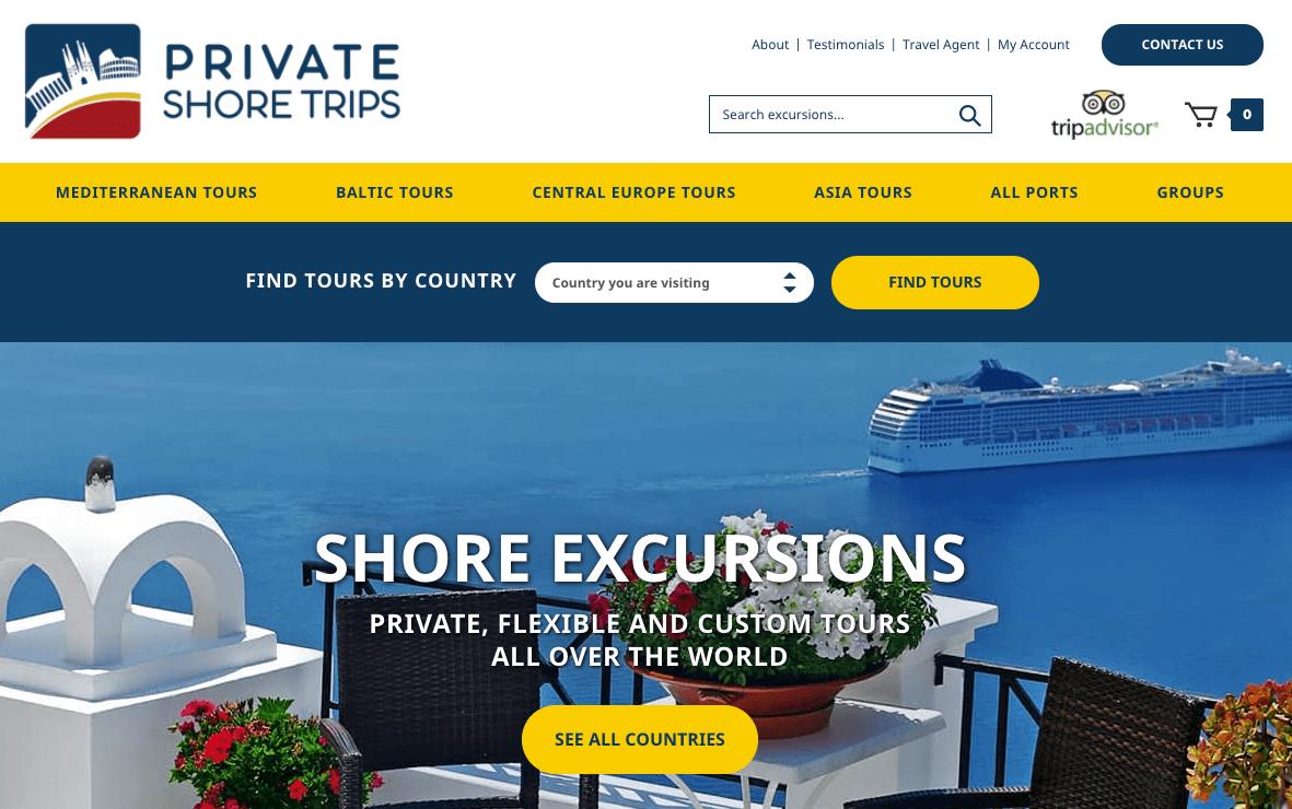 Private Shore Trips website.