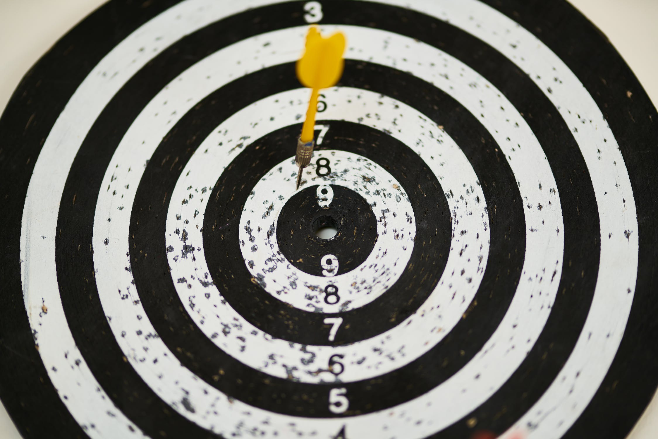 Photo showing dartboard - analogy for quality scores