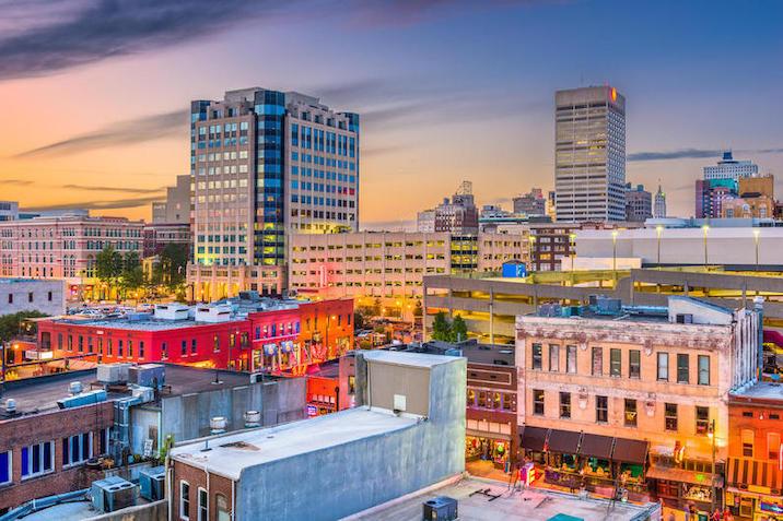 Photo showing the Memphis skyline