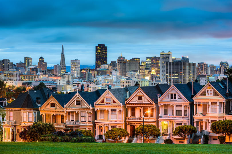 Photo showing the San Francisco skyline