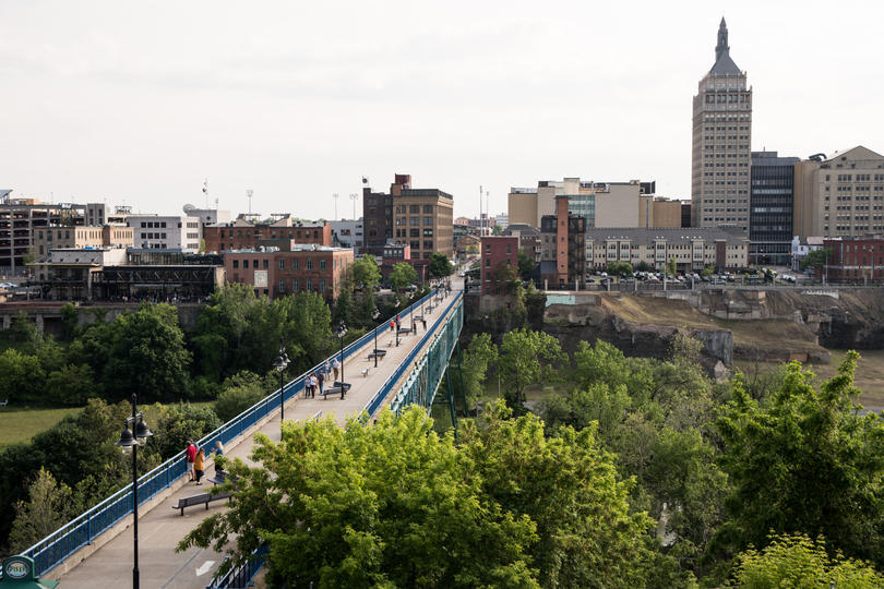 Photo showing Rochester skyline