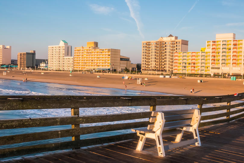 Beach view of city with the most female business owners #5: Virginia Beach - Newfolk - Newport News, VA - NC