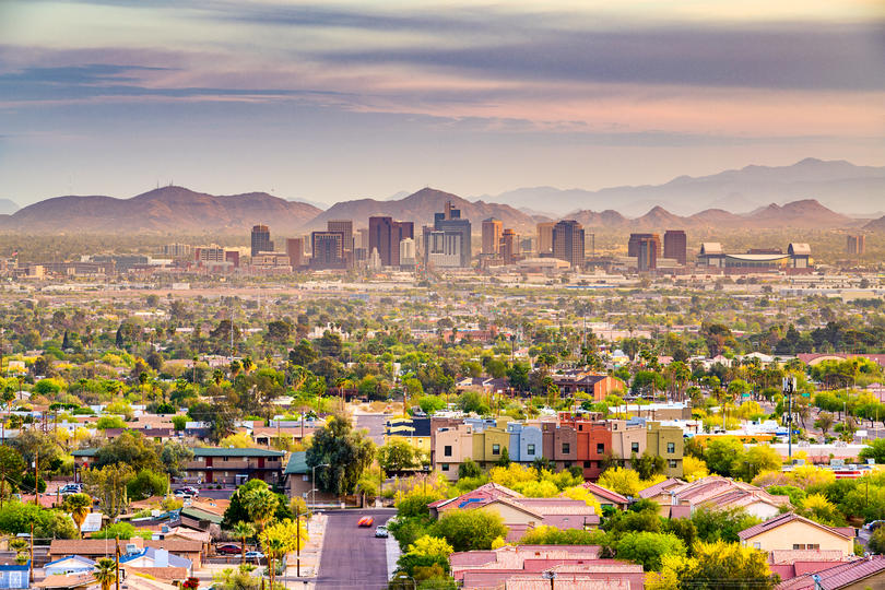 Skyline of city with the most female business owners #9: Pheonix - Mesa - Scottsdale, AZ