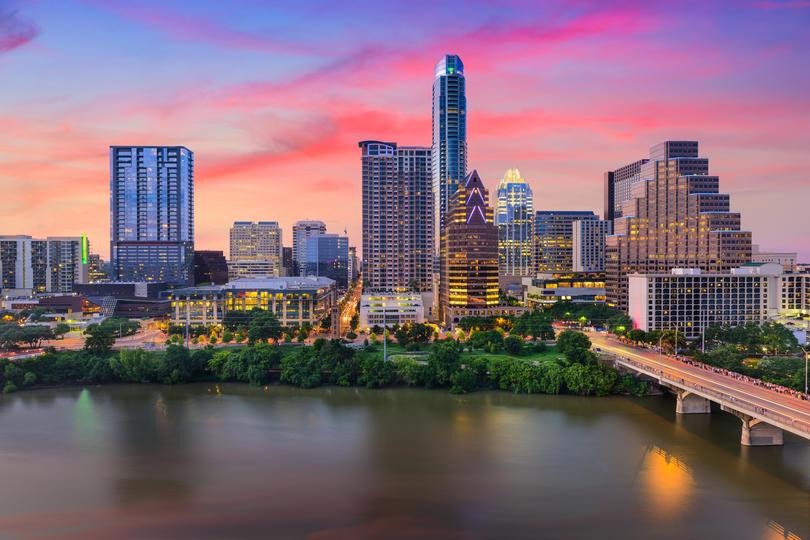 The beautiful skyline of Austin, TX