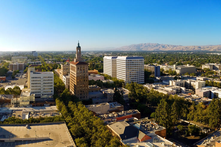 Photo of San Jose skyline