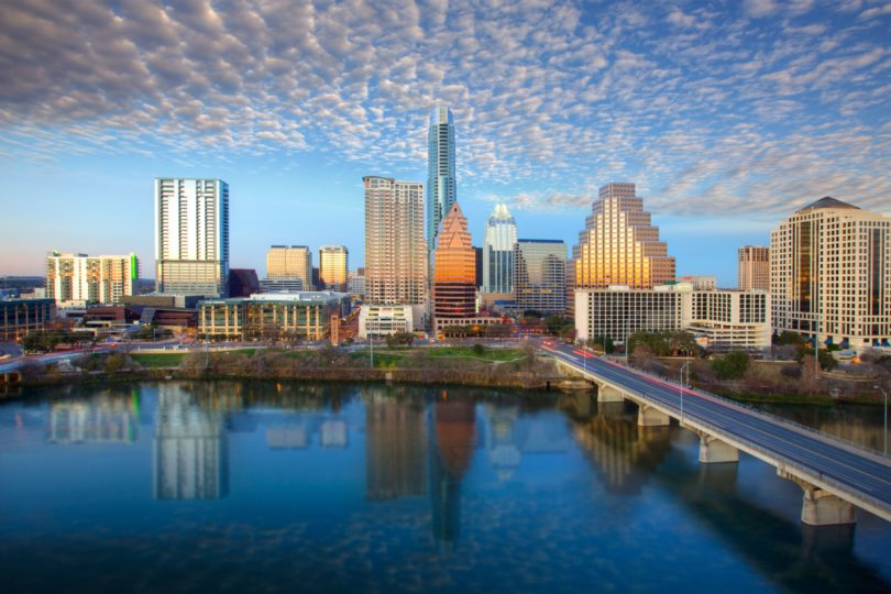 Photo of the gorgeous Austin skyline
