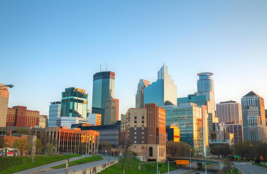 Photo of Minneapolis skyline