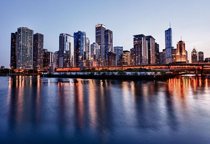 Photo of Chicago skyline