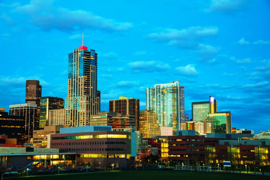 Photo of Denver skyline