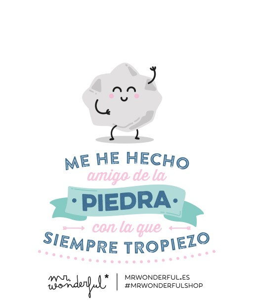 Personaliza tu mensaje Mr. Wonderful - Agendawonder.es