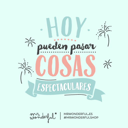 Sitio oficial de la agenda mr wonderful for Frases de mister wonderful