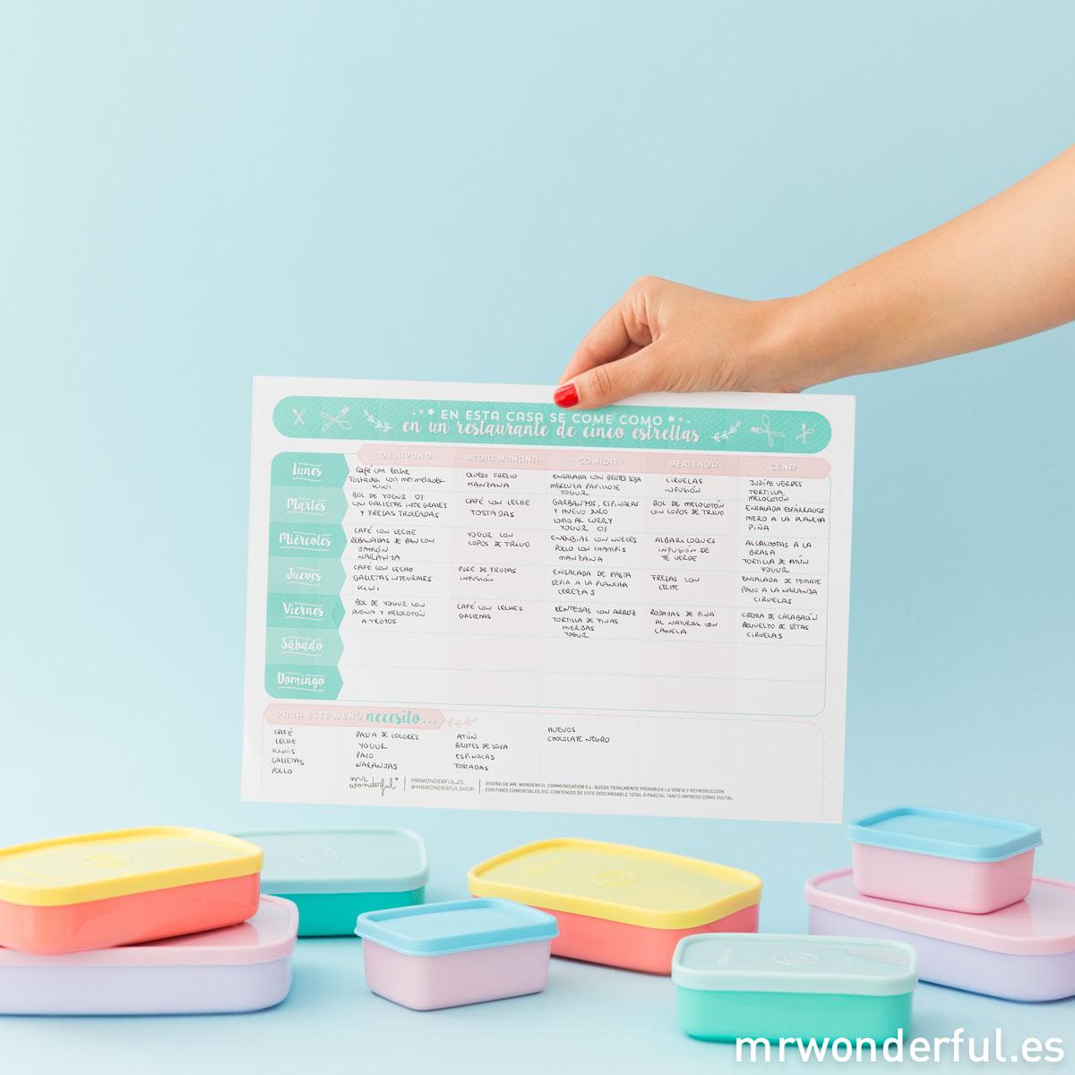 Calendario Mensual Mr Wonderful.Descargable Para Organizarte Al Maximo Tambien En Tus