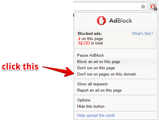 adblock disable
