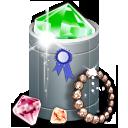 trash full, jewelry