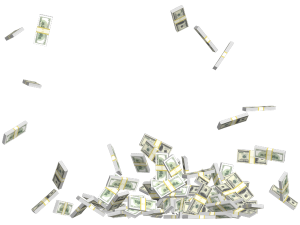 эффект на фото падающие деньги человека