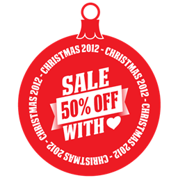 Sale 50 Off With Love Icon Download Free Icon Christmas Gifts Sale Icons On Artage Io