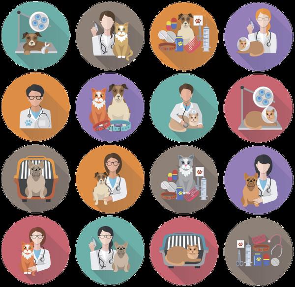 набор иконок, ветеринар, животные, кот, собака, медицина, доктор, a set of icons, a veterinarian, medicine, animals, a cat, a dog, a doctor, eine reihe von icons, ein tierarzt, medizin, tiere, eine katze, ein hund, ein arzt, un ensemble d'icônes, un vétérinaire, la médecine, les animaux, un chat, un chien, un médecin, un conjunto de iconos, medicina, animales, un gato, un perro, un médico, un set di icone, un veterinario, una medicina, animali, un gatto, un cane, un dottore, um conjunto de ícones, um veterinário, remédios, animais, um gato, um cachorro, um médico, набір іконок, тварини, кіт, пес, лікар, флэт иконки