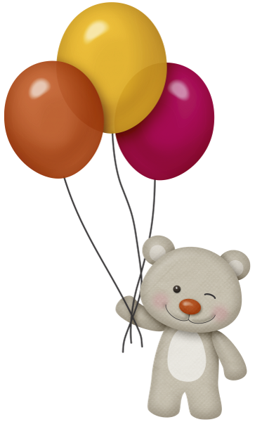 Картинка мишка держит шарики