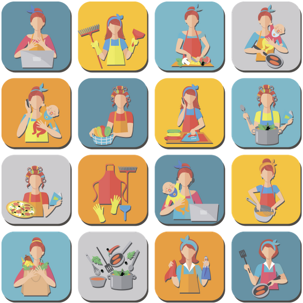 набор иконок, люди, домохозяйка, женщина, домашняя работа, set of icons, people, housewife, woman, homework, reihe von icons, menschen, hausfrau, frau, hausaufgaben, ensemble d'icônes, les gens, femme au foyer, femme, devoirs, conjunto de iconos, gente, ama de casa, mujer, tarea, set di icone, persone, casalinga, donna, compiti a casa, conjunto de ícones, pessoas, dona de casa, mulher, lição de casa, набір іконок, домогосподарка, жінка, домашня робота, флэт иконки