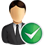 business, user, accept