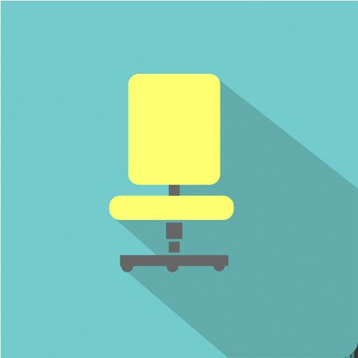 иконка офисный стул, иконка мебель, флэт иконки, icon office chair, furniture icon, flat icons, іконка офісний стілець, іконка меблі, флет іконки