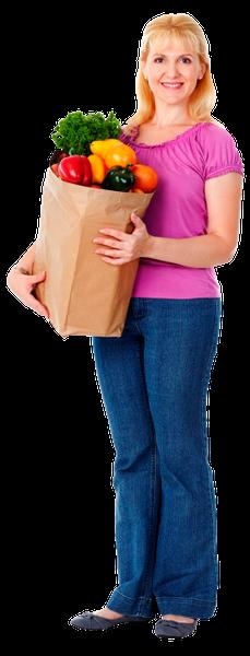 домохозяйка, покупки, продукты питания, голубой, пакет с продуктами, женщина, супермаркет, магазин, продукты, еда, овощи, радость, шопинг