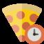 pizza, clock