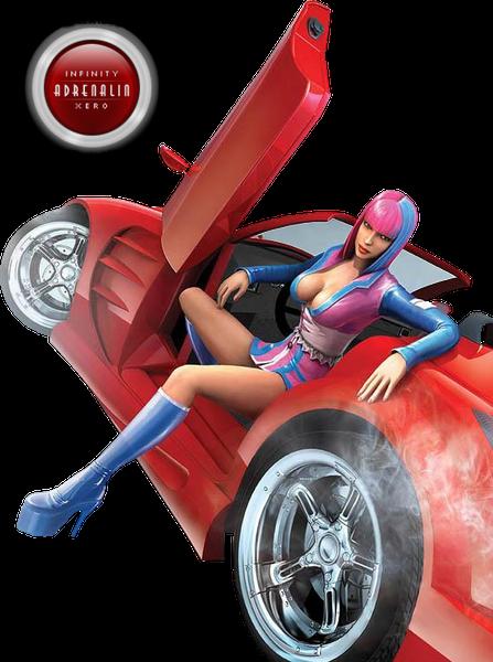 adrenaline, адреналин, секси девушка, sexy girl, красная машина, red car, большие сиськи, большая грудь, big boobs