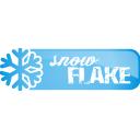 snowflake, button