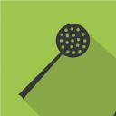 иконка шумовка, иконка посуда, флэт иконки, icon skimmer, icon kitchen equipment, kitchenware icon, flat icons, іконка шумівка, іконка посуд, флет іконки