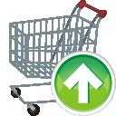 shopping cart, arrow up, корзина для покупок, тележка для покупок, стрелка вверх