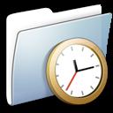 graphite smooth folder clock