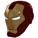 gold iron man mask