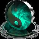 ying yang teal